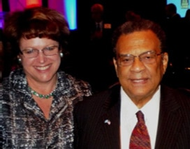 Janet Walsh and fellow board member Andrew Young
